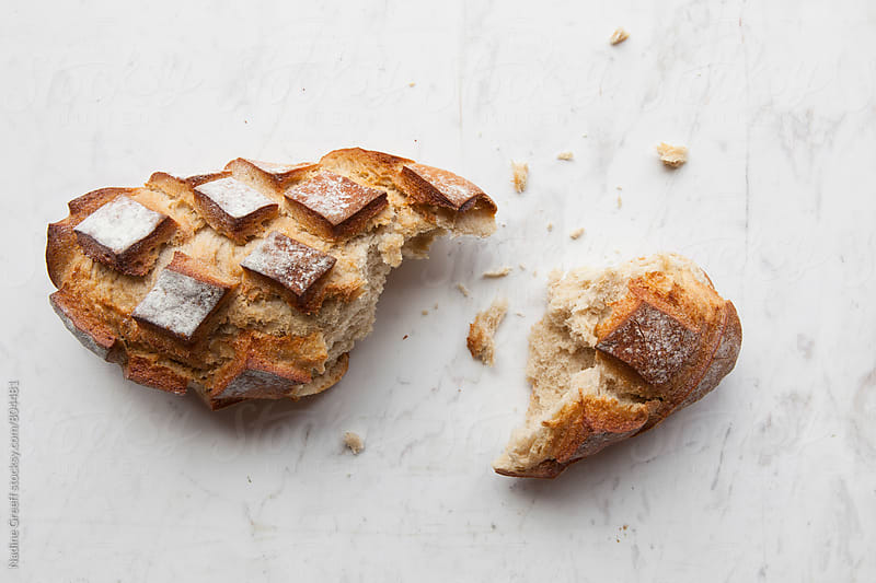 Artisan bread loaf by Nadine Greeff for Stocksy United