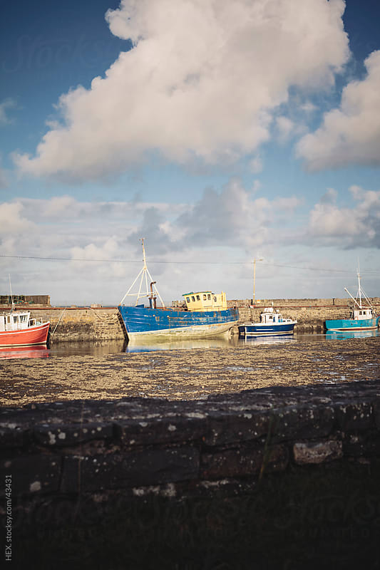 Fisherman Ships in Ireland by HEX. for Stocksy United