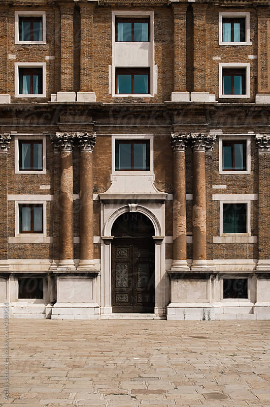 Building with rustic antique facade.Venice/italy by Marko Milanovic for Stocksy United