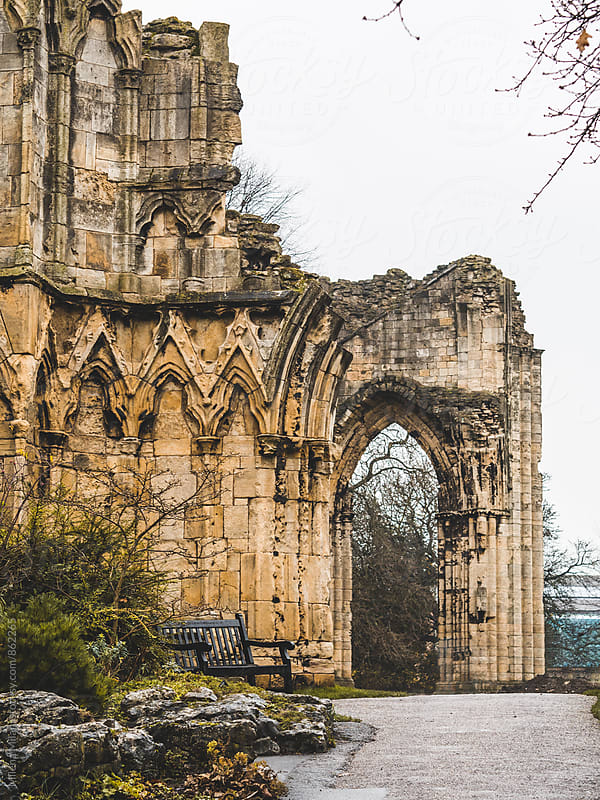 Roman ruins in York by Milena Milani for Stocksy United