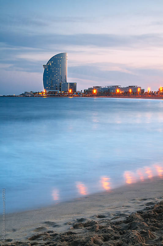 Sunset in La Barceloneta by ACALU Studio for Stocksy United