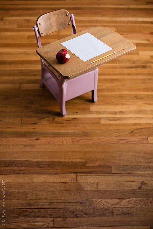 empty school desk by Brian Powell for Stocksy United
