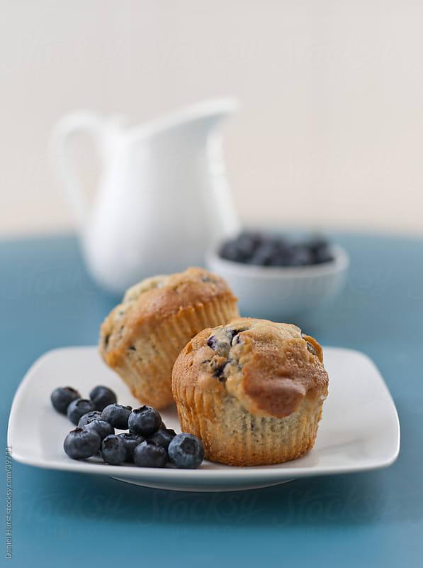Blueberry Muffins by Daniel Hurst for Stocksy United