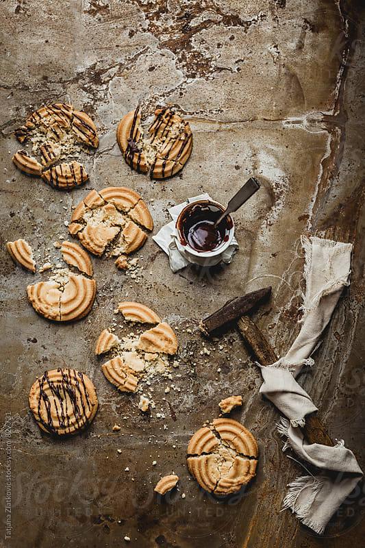 Cookies with chocolate by Tatjana Zlatkovic for Stocksy United
