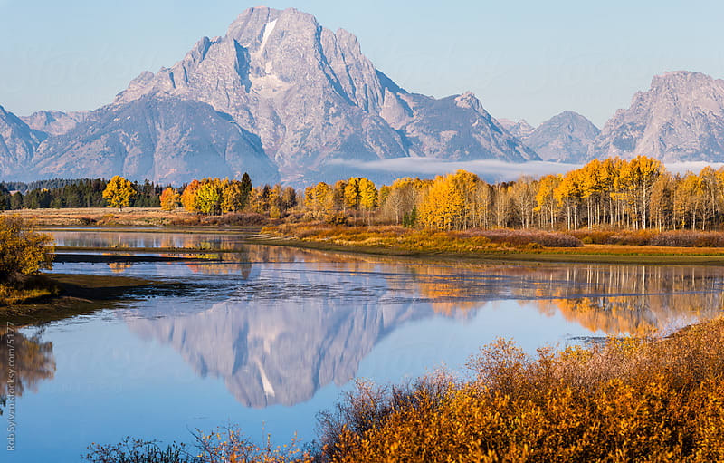 Oxbow Bend Grand Teton National Park by Rob Sylvan for Stocksy United
