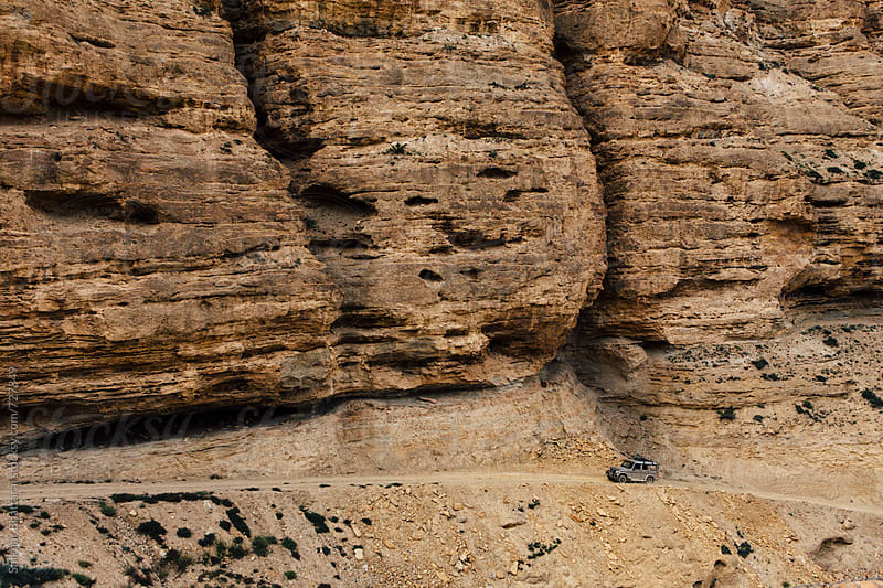 Jeep ride along the canyons of Upper Mustang. by Shikhar Bhattarai for Stocksy United