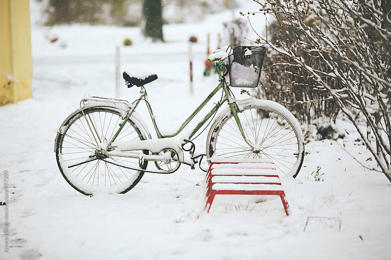 Snowy bicycle by Jovana Rikalo for Stocksy United