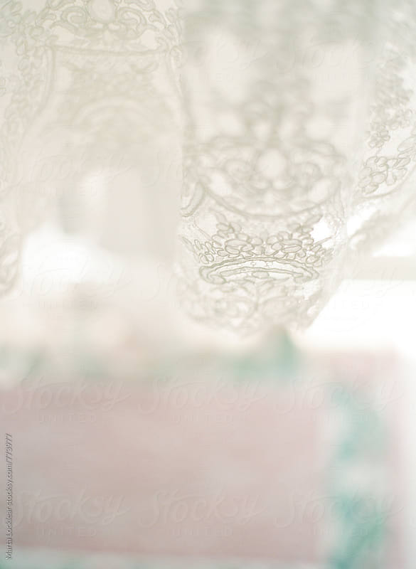 Wedding Dress Lace Detail  by Marta Locklear for Stocksy United