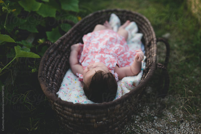 Sweet baby in the Garden by Courtney Rust for Stocksy United