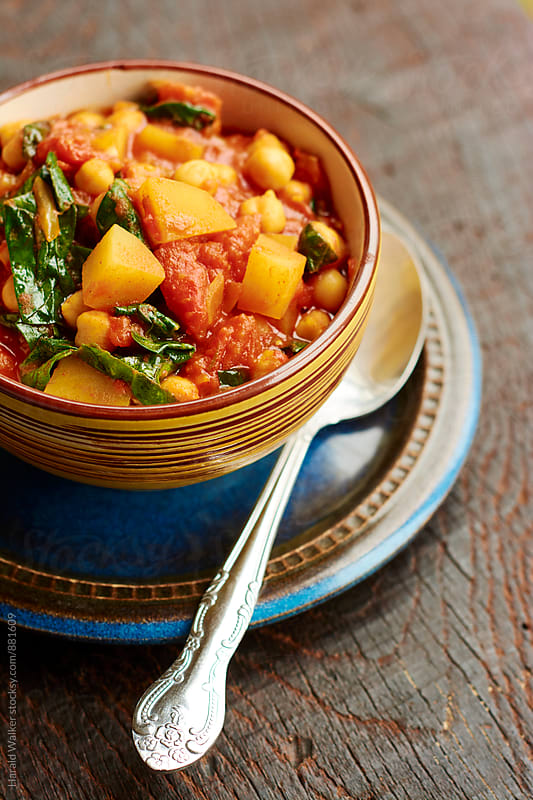 Andalusian Chickpea and Spinach Soup by Harald Walker for Stocksy United
