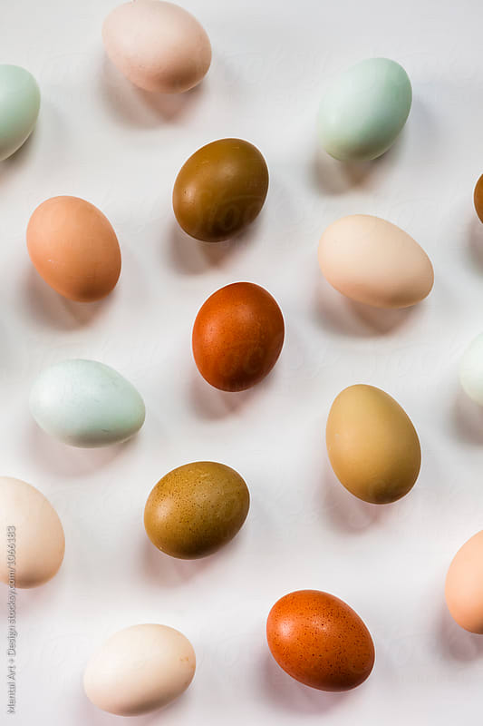 Egg food background by Mental Art + Design for Stocksy United