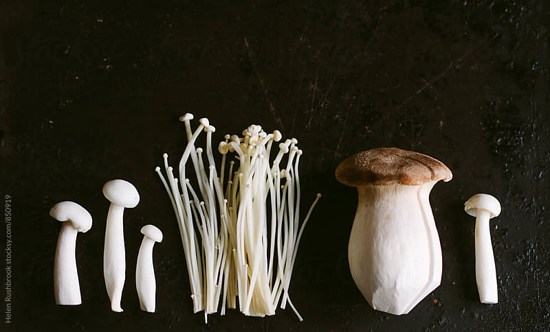 A selection of oriental mushrooms by Helen Rushbrook for Stocksy United