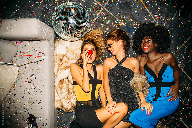 Girls Just Want to Have Fun! New Year's Party by Studio Firma for Stocksy United