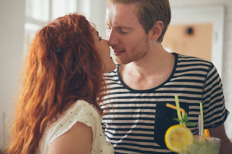 Ginger Couple Kissing by Lumina for Stocksy United