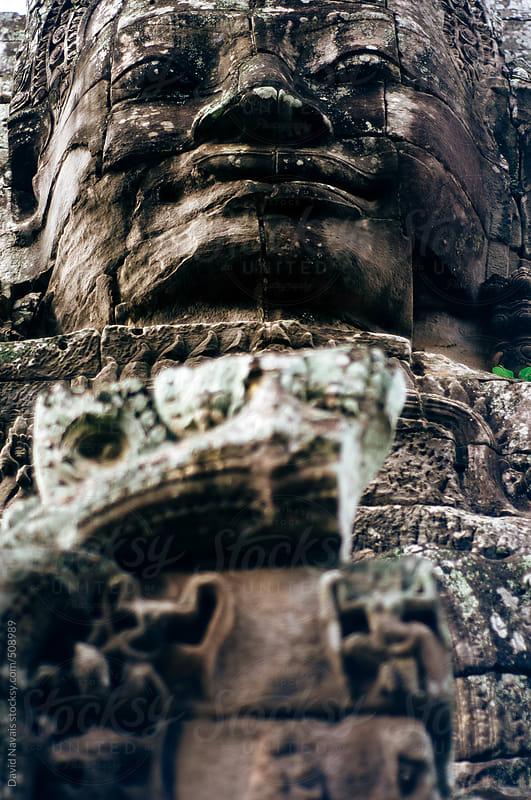 Stone Buddha face by David Navais for Stocksy United