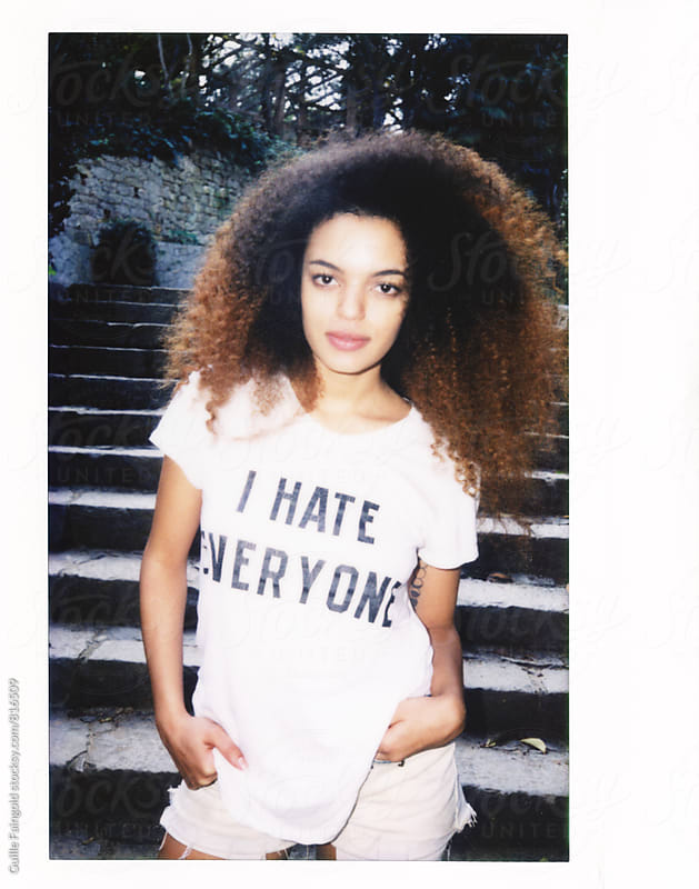 Polaroid of young Afro-American woman by Guille Faingold for Stocksy United