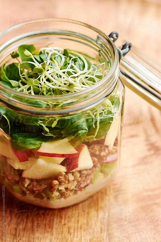 Waldorf Salad in a Jar by Harald Walker for Stocksy United