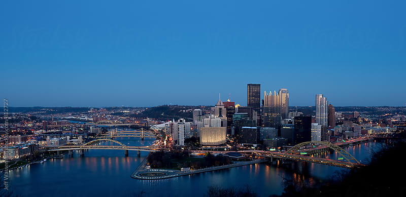 Pittsburgh Pennsylvania Downtown Skyline by Jeff Wasserman for Stocksy United