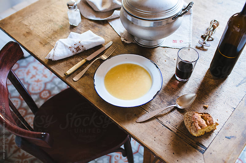 Still life of retro tureen and broth by mee productions for Stocksy United