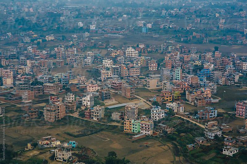 Aerial view of Kathmandu city in Nepal, Asia by Soren Egeberg for Stocksy United