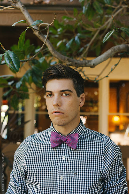 Young Man Wearing A Bowtie by Caleb Thal for Stocksy United
