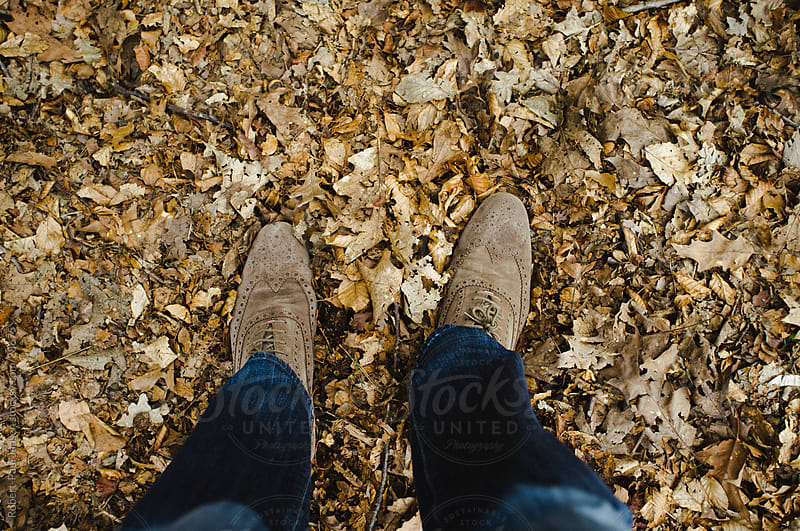 Shoes in leaves by Robert-Paul Jansen for Stocksy United