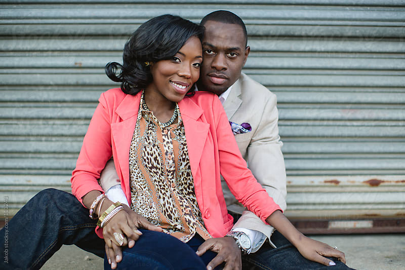 Young african-american couple in love by Jakob for Stocksy United