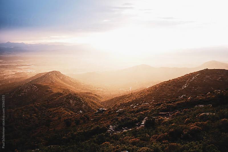 mediterranean landscape sunset by Paul Schlemmer for Stocksy United