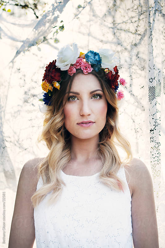 Floral Crown by Bethany Olson for Stocksy United