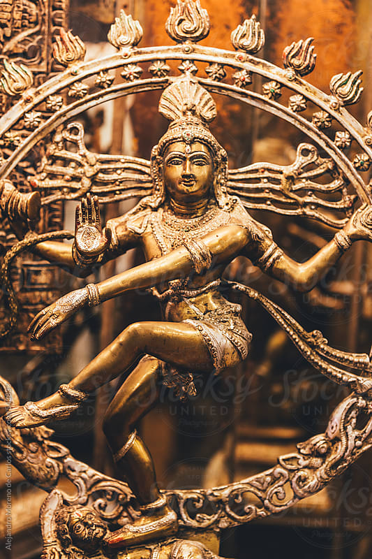 Small metal statue of Hindu god Shiva as Nataraja Lord of Dance. India by Alejandro Moreno de Carlos for Stocksy United