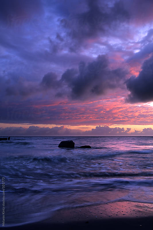Just before sunrise at the Baltic Sea/ Germany in summer by Melanie Kintz for Stocksy United