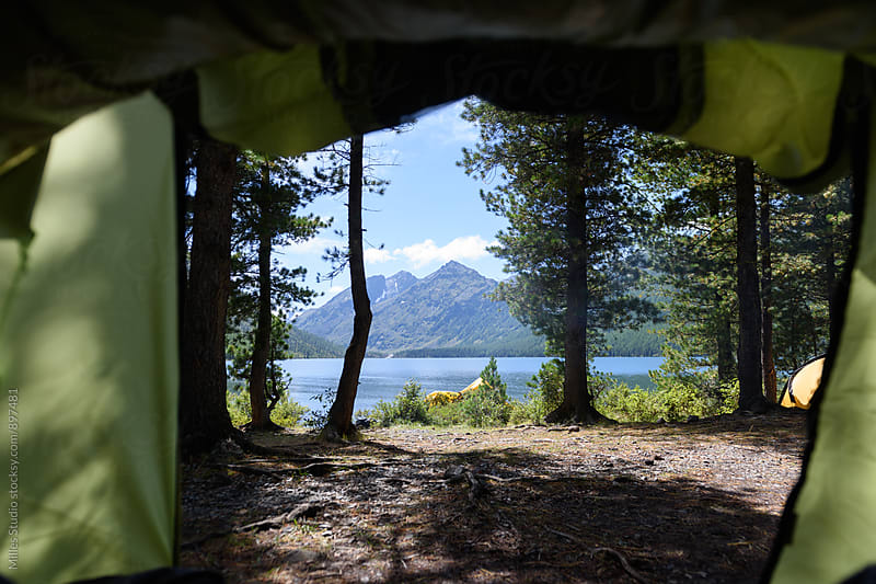 View from tent by Milles Studio for Stocksy United