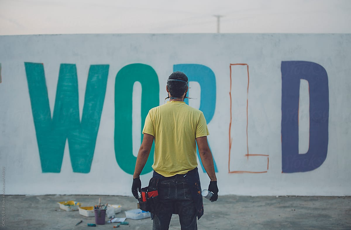 Graffiti Painter By Cactus Blai Baules For Stocksy United