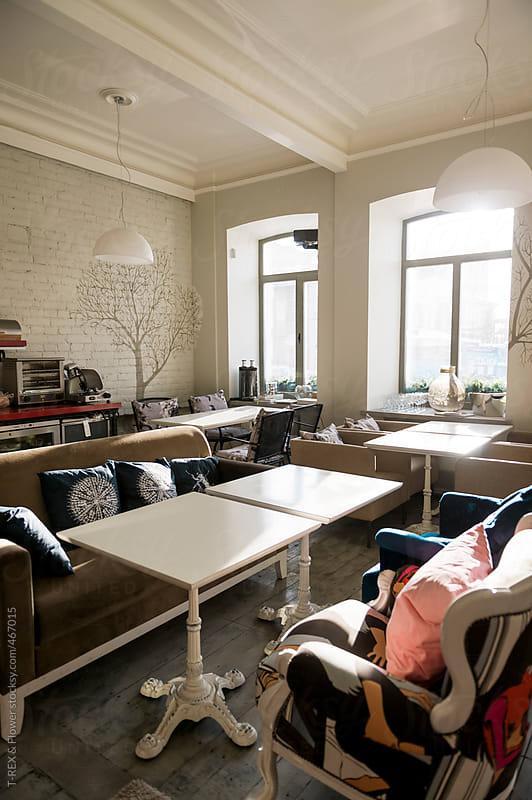Trendy cafe interior by T-REX & Flower for Stocksy United