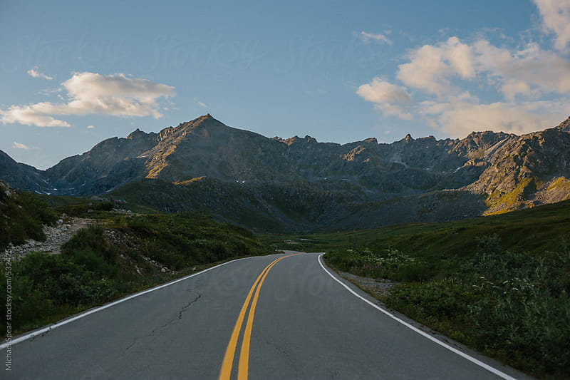 Road Leading to Mountain by Michael Spear for Stocksy United