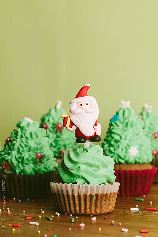 christmas cupcakes by MaaHoo Studio for Stocksy United