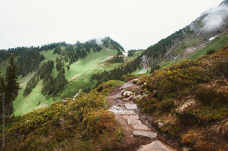 Rocky Trail in the North Cascade Mountains of Washington by michelle edmonds for Stocksy United