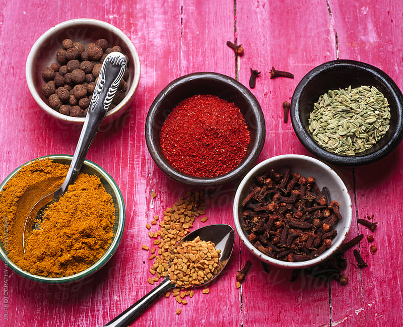 Indian spices by J.R. PHOTOGRAPHY for Stocksy United