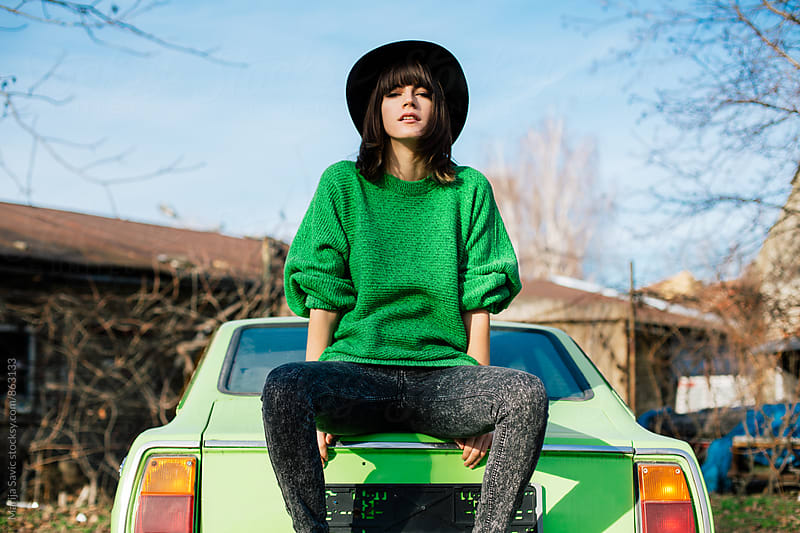 Beautiful Woman on a Road Trip by Marija Savic for Stocksy United