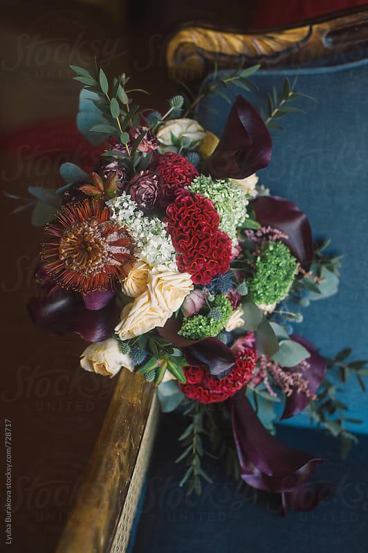 Bouquet with dark flowers  by Lyuba Burakova for Stocksy United