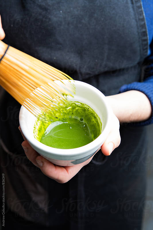 Matcha being made - digital file by Andrew Cebulka for Stocksy United