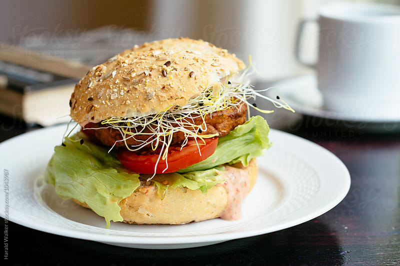 Veggie Burger by Harald Walker for Stocksy United