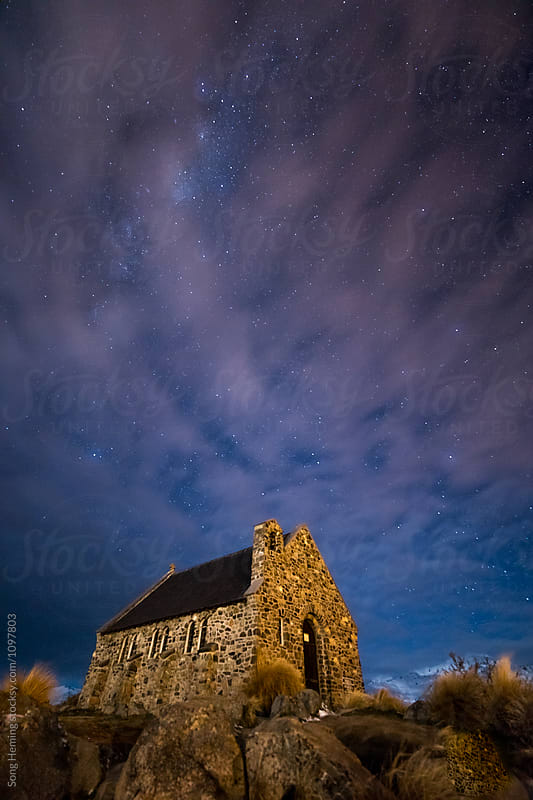 Church of the Good Shepherd under the Galaxy by Song Heming for Stocksy United