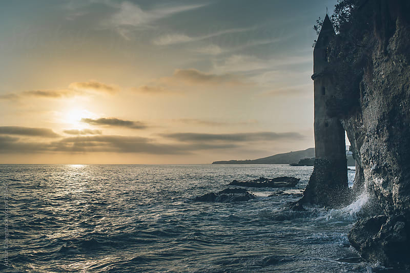 Castle Tower by the Ocean by Arthur Chang for Stocksy United