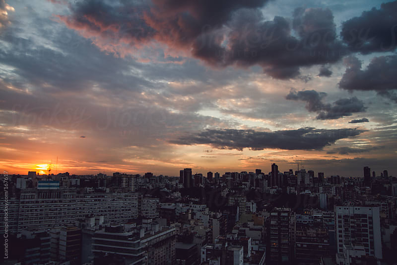 Buenos Aires skyline by Leandro Crespi for Stocksy United