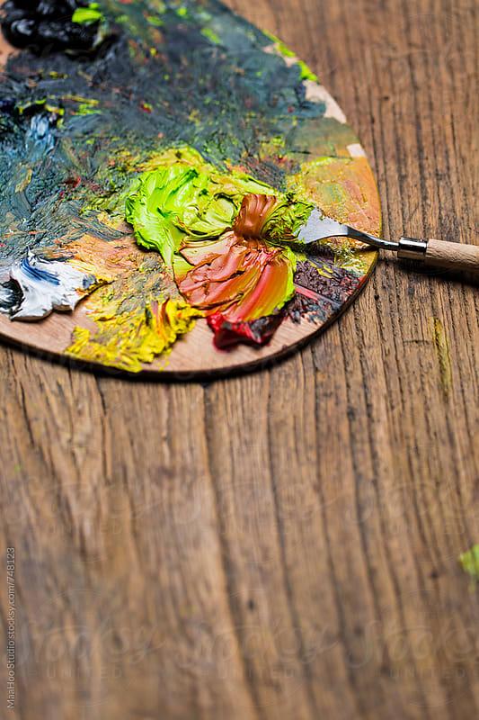 Watercolor palette by MaaHoo Studio for Stocksy United