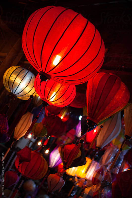 The Lanterns of Hoi An Vietnam by Rowena Naylor for Stocksy United