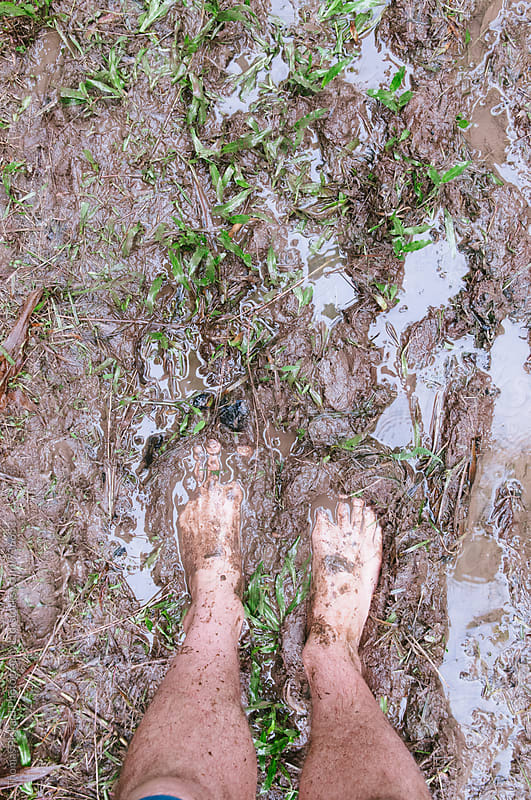 Feet and mud, Samoa. by Thomas Pickard Photography Ltd. for Stocksy United