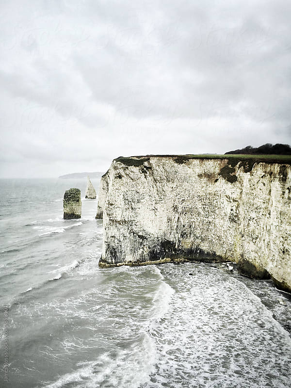 Chalk cliffs on the Dorset coast, UK by James Ross for Stocksy United