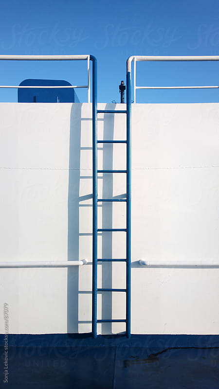 blue ladder composition by Sonja Lekovic for Stocksy United